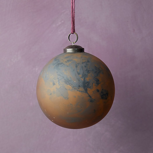 View larger image of Smoky Marbled Glass Globe Ornament