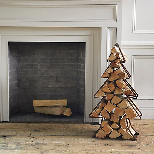 View larger image of Iron Evergreen Tree Log Holder