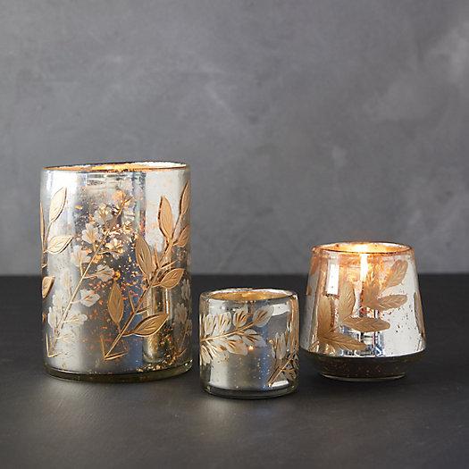 View larger image of Golden Leaves Tea Light Holder