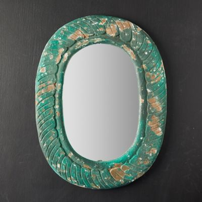 Antiqued Green Mirror