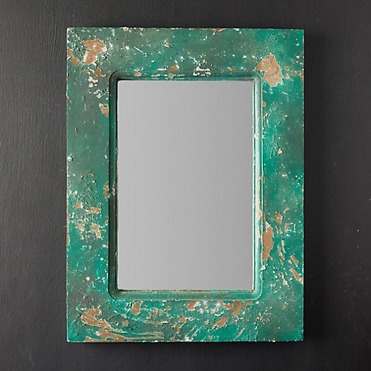 View larger image of Antiqued Green Mirror
