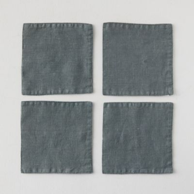 Lithuanian Linen Cocktail Napkins, Set of 4