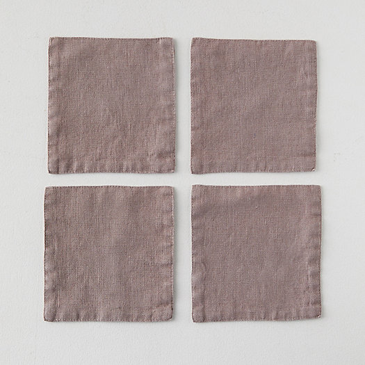 View larger image of Lithuanian Linen Cocktail Napkins, Set of 4