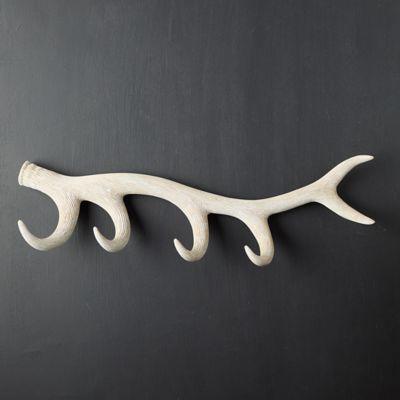 Wood Antler Hook Rack