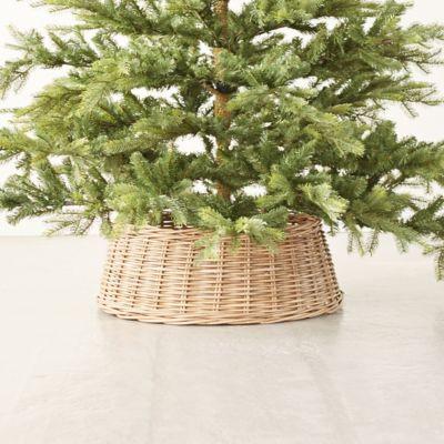 Wicker Basket Tree Skirt, Gray