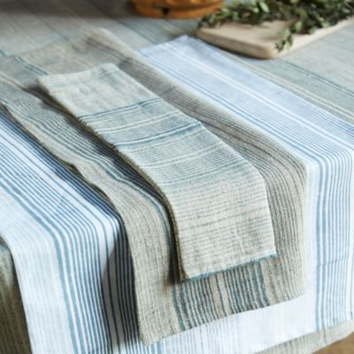 Indigo Stripes Table Linen Collection