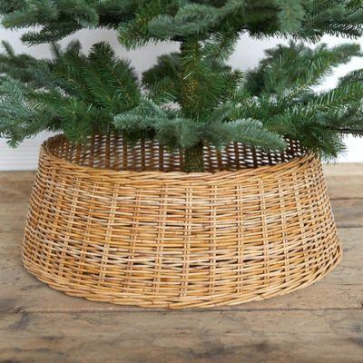 Wicker Basket Tree Skirt, Natural