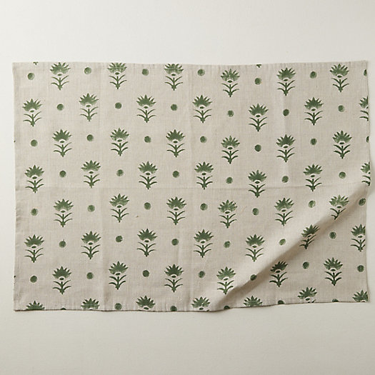 View larger image of Dotted Botanics Table Linen Collection