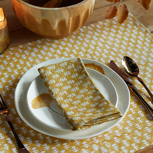 View larger image of Golden Geo Table Linen Collection