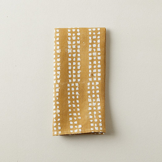 View larger image of Golden Dots Linen Napkin