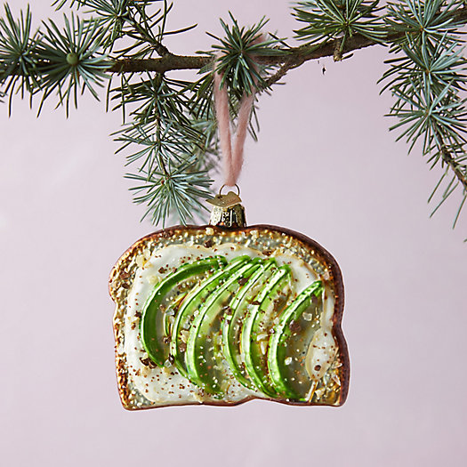View larger image of Avocado Toast Glass Ornament
