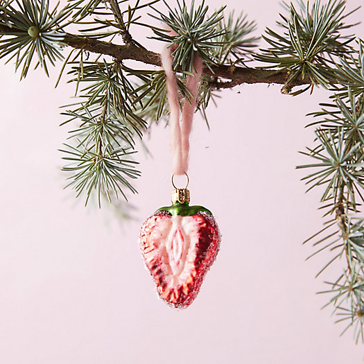 View larger image of Strawberry Glass Ornament