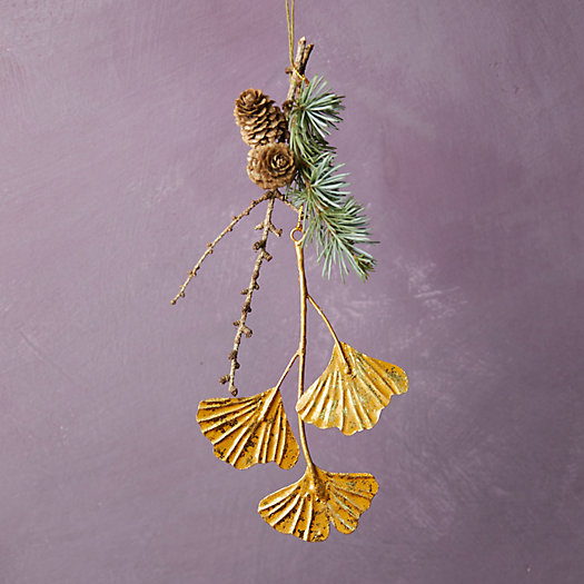 View larger image of Gold Ginkgo Ornament