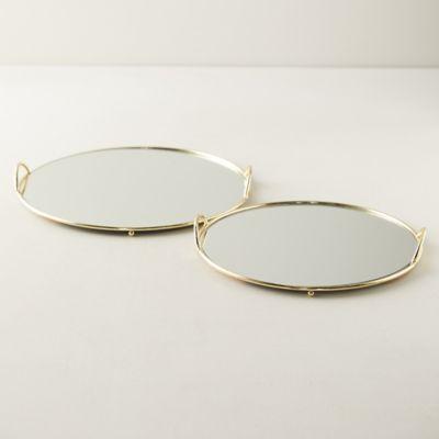 Round Mirrored Tray