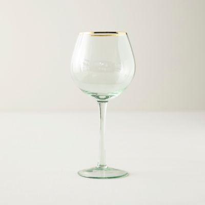 Gold Rim Wine Glass