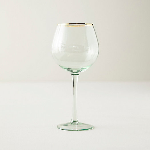 View larger image of Gold Rim Wine Glass