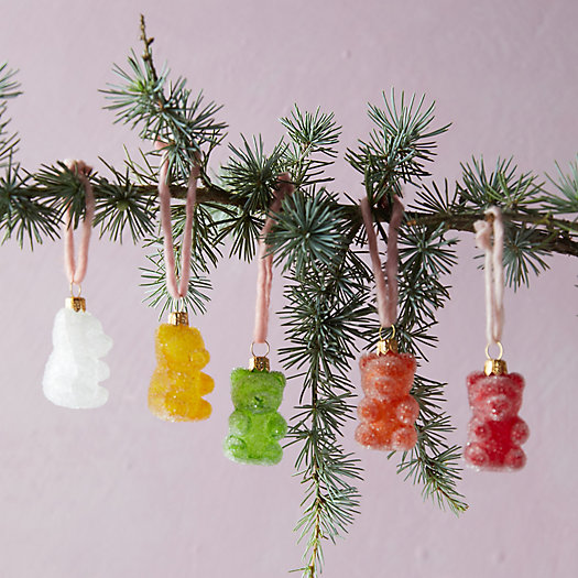 View larger image of Gummy Bear Glass Ornaments, Set of 5