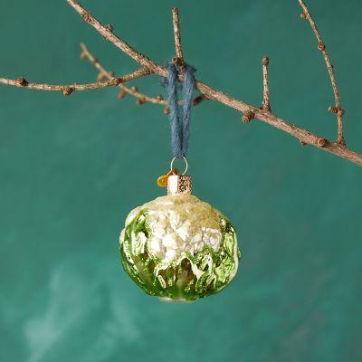Cauliflower Glass Ornament