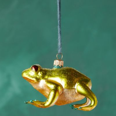 Frog Glass Ornament