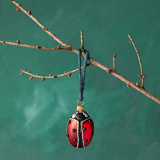 View larger image of Good Luck Ladybug Glass Ornament