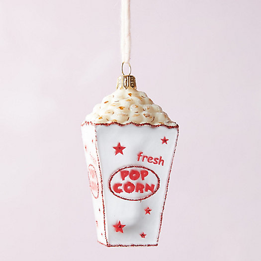 View larger image of Movie Popcorn Glass Ornament