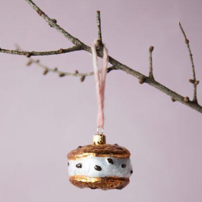 Ice Cream Sandwich Glass Ornament