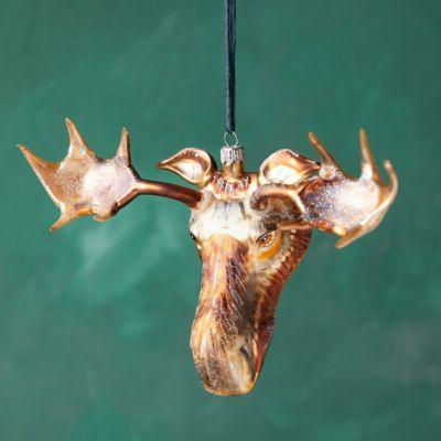 Moose Glass Ornament