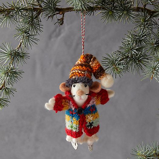 View larger image of Bundled Up Mouse Felt Ornament