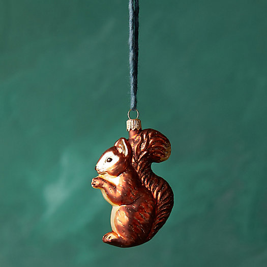 View larger image of Squirrel Glass Ornament
