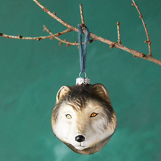 View larger image of Wolf Head Glass Ornament