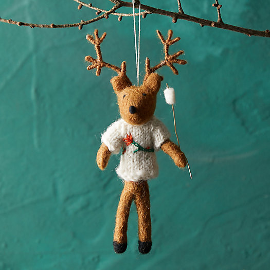 View larger image of Campfire Deer Felt Ornament