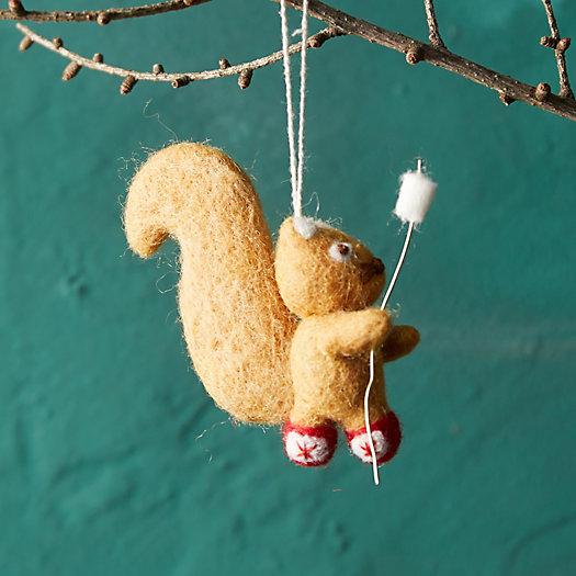 View larger image of Campfire Squirrel Felt Ornament