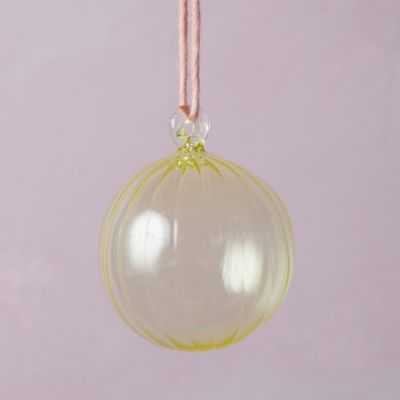 Fluted Glass Globe Ornament