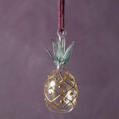 Pineapple Glass Ornament