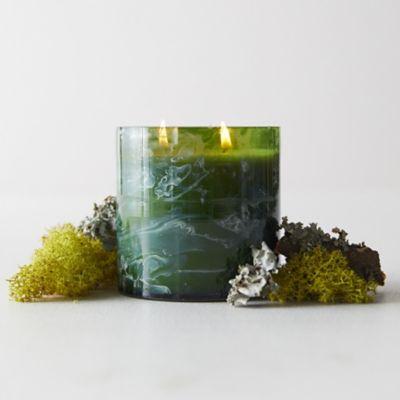 Linnea's Lights Marble Candle, Moss + Lichen