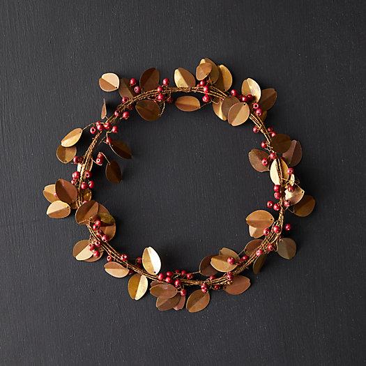 View larger image of Beaded Brass Mistletoe Wreath