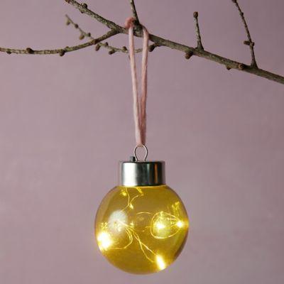 "Colorful LED Globe Ornament, 3"""