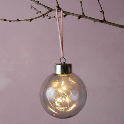 "Colorful LED Globe Ornament, 4"""