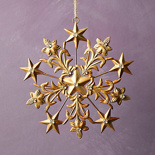 View larger image of Gold Star Snowflake Ornament