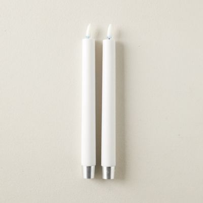 Flameless Taper Candles, Set of 2