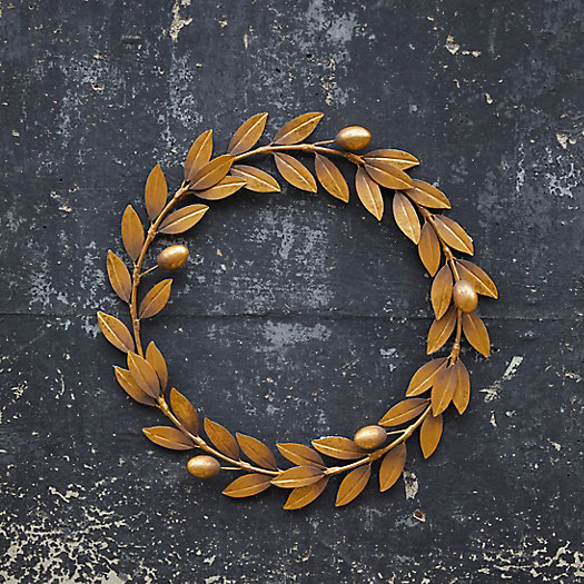 View larger image of Antiqued Golden Iron Olive Wreath