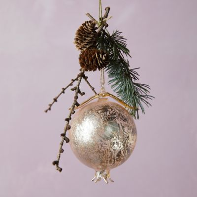 Forest Pomegranate Glass Ornament