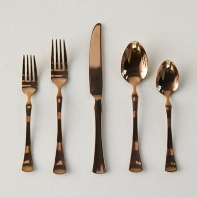 Mirrored Copper Flatware Set