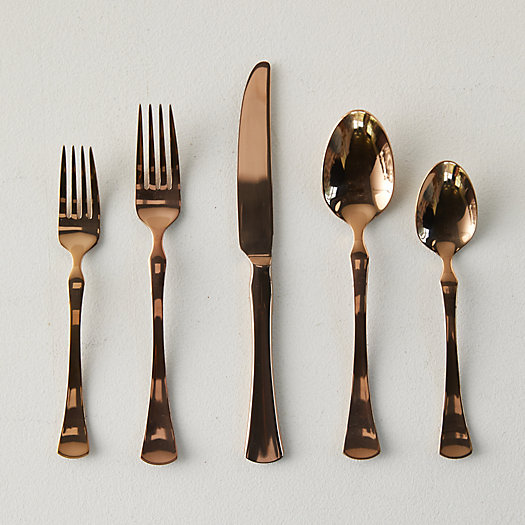 View larger image of Mirrored Copper Flatware Set