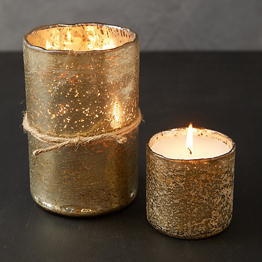 View larger image of Gold Mercury Glass Candle, Ginger Patchouli
