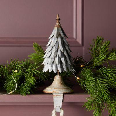 Galvanized Evergreen Tree Stocking Holder
