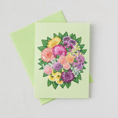 Floral Bouquet Pop Up Cards, Set of 6