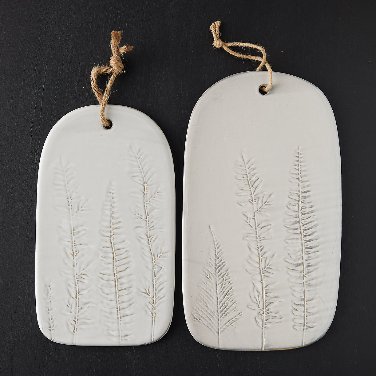 fern pressed porcelain serving board