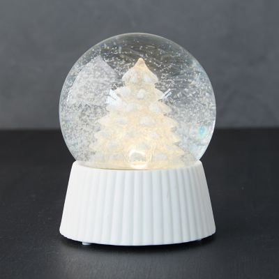 Glowing Christmas Tree LED Snow Globe