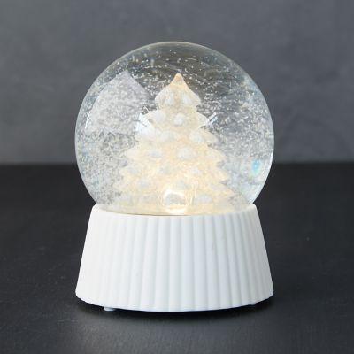 Glowing LED Evergreen Tree Snow Globe